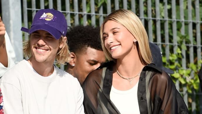 NEW YORK, NY - SEPTEMBER 06:  Justin Bieber and Hailey Baldwin attend the John Elliott front row during New York Fashion Week: The Shows on September 6, 2018 in New York City.  (Photo by Theo Wargo/Getty Images for NYFW: The Shows)