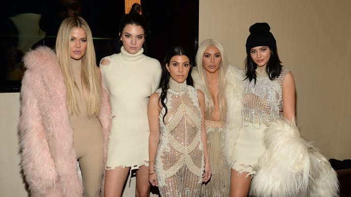 NEW YORK, NY - FEBRUARY 11:  Khloe Kardashian, Kendall Jenner, Kourtney Kardashian, Kim Kardashian West and Kylie Jenner attend Kanye West Yeezy Season 3 at Madison Square Garden on February 11, 2016 in New York City.  (Photo by Kevin Mazur/Getty Images for Yeezy Season 3)
