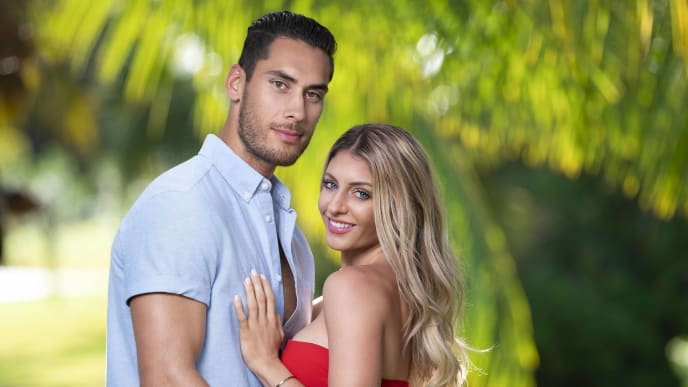 David Benavidez and Kate Griffith on Temptation Island via USA Network.