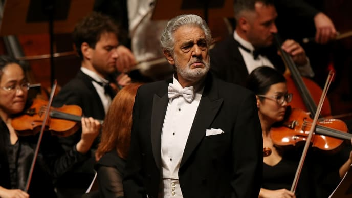 ORANGE, CA - NOVEMBER 14:  Placido Domingo performs onstage during LA Opera's Nabucco in Concert starring Placido Domingo at Musco Center for the Arts on November 14, 2017 in Orange, California.  (Photo by Phillip Faraone/Getty Images for Musco Center for the Arts at Chapman University)