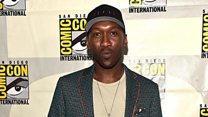 SAN DIEGO, CALIFORNIA - JULY 20: Mahershala Ali of Marvel Studios' 'Blade' at the San Diego Comic-Con International 2019 Marvel Studios Panel in Hall H on July 20, 2019 in San Diego, California. (Photo by Alberto E. Rodriguez/Getty Images for Disney)