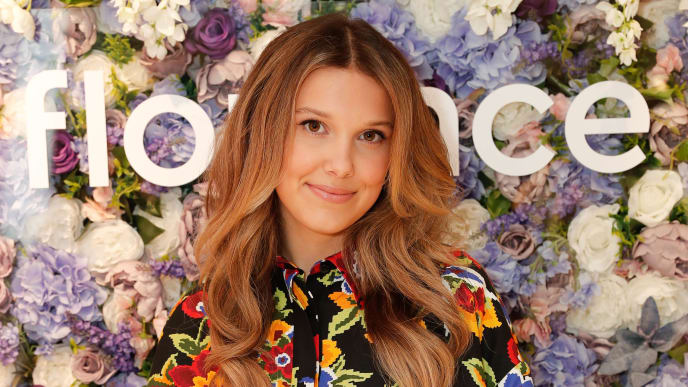 LONDON, ENGLAND - SEPTEMBER 28: Millie Bobby Brown meets with fans to celebrate the launch of her new beauty brand, florence by mills, available at Boots, on September 28, 2019 in London, England. (Photo by David M. Benett/Dave Benett/Getty Images for Beach House Group)