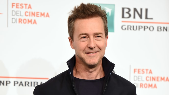 "ROME, ITALY - OCTOBER 17:  Edward Norton attends the photocall of the movie ""Motherless Brooklyn"" during the 14th Rome Film Festival on October 17, 2019 in Rome, Italy. (Photo by Stefania D'Alessandro/Getty Images)"