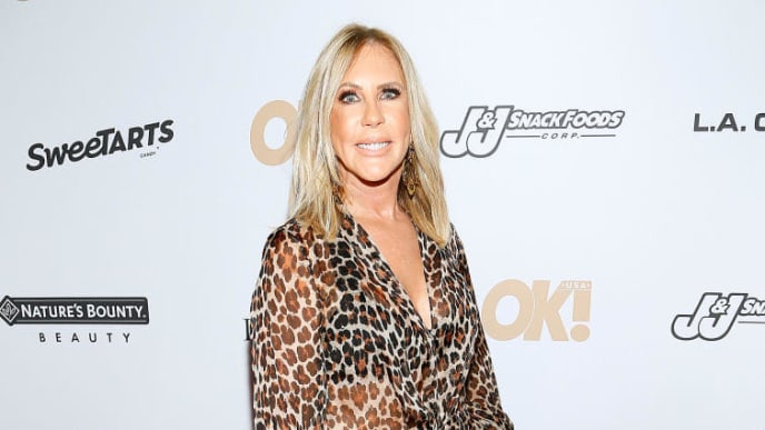 NEW YORK, NEW YORK - SEPTEMBER 10: Vicky Gunvalson attends the OK! Magazine NYFW Party at PhD, Dream Downtown Hotel Rooftop on September 10, 2019 in New York City. (Photo by Paul Morigi/Getty Images)
