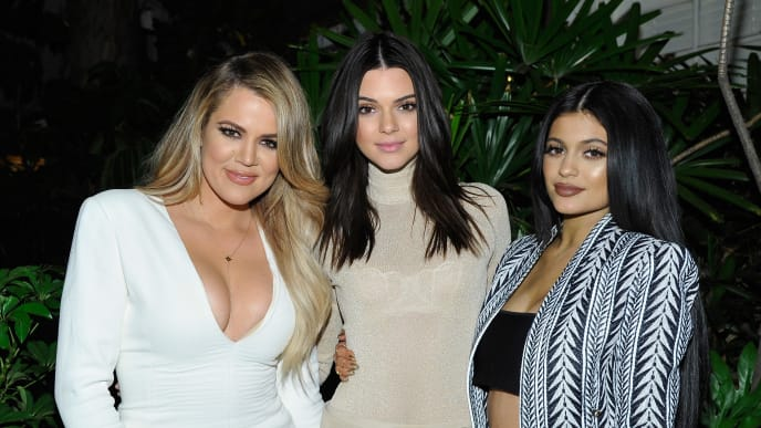 Khloé Kardashian with sisters Kendall and Kylie Jenner