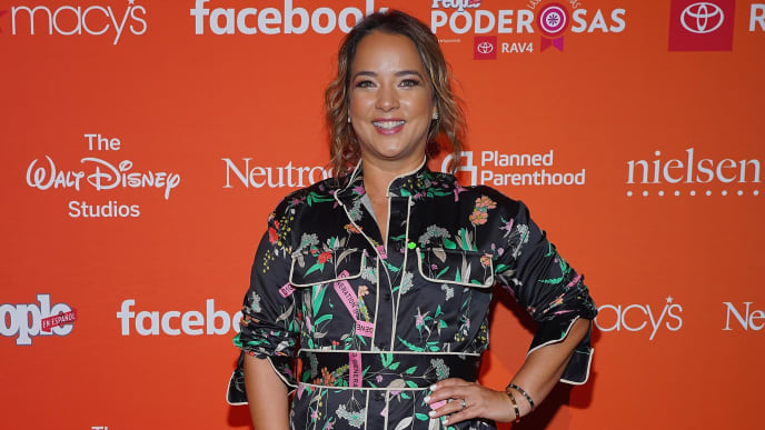 """CORAL GABLES, FL - MARCH 15:  Adamari Lopez attends the People En Espanol 2019 """"25 Most Powerful Women"""" Luncheon on March 15, 2019 in Coral Gables, Florida.  (Photo by Rodrigo Varela/Getty Images for People En Español)"""