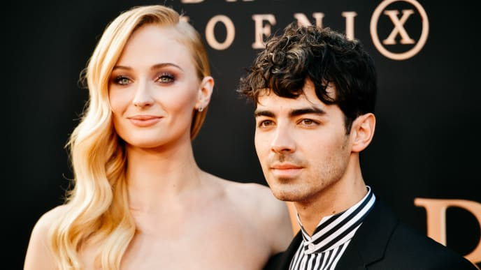 """HOLLYWOOD, CALIFORNIA - JUNE 04: (EDITORS NOTE: Image has been processed using digital filters) Sophie Turner and Joe Jonas attend the premiere of 20th Century Fox's """"Dark Phoenix"""" at TCL Chinese Theatre on June 04, 2019 in Hollywood, California. (Photo by Matt Winkelmeyer/Getty Images)"""