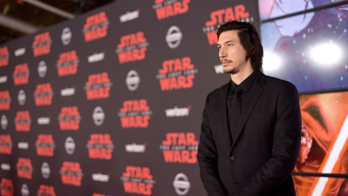 """LOS ANGELES, CA - DECEMBER 09:  Adam Driver attends the premiere of Disney Pictures and Lucasfilm's """"Star Wars: The Last Jedi"""" at The Shrine Auditorium on December 9, 2017 in Los Angeles, California.  (Photo by Matt Winkelmeyer/Getty Images)"""