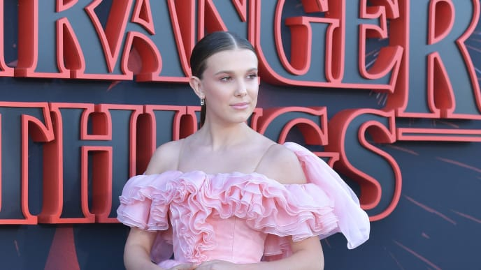 "SANTA MONICA, CALIFORNIA - JUNE 28: Millie Bobby Brown attends the premiere of Netflix's ""Stranger Things"" Season 3 on June 28, 2019 in Santa Monica, California. (Photo by Amy Sussman/Getty Images)"