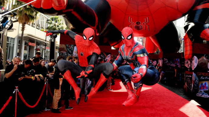 "HOLLYWOOD, CALIFORNIA - JUNE 26: A general view is shown during arrives at the premiere of Sony Pictures' ""Spider-Man: Far From Home"" at TCL Chinese Theatre on June 26, 2019 in Hollywood, California. (Photo by Kevin Winter/Getty Images)"