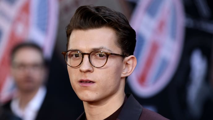 """HOLLYWOOD, CALIFORNIA - JUNE 26: Tom Holland attends the Premiere Of Sony Pictures' """"Spider-Man Far From Home"""" at TCL Chinese Theatre on June 26, 2019 in Hollywood, California. (Photo by Frazer Harrison/Getty Images)"""