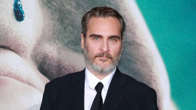 """HOLLYWOOD, CALIFORNIA - SEPTEMBER 28:  Joaquin Phoenix attends the premiere of Warner Bros Pictures """"Joker"""" on September 28, 2019 in Hollywood, California. (Photo by Rich Fury/Getty Images)"""