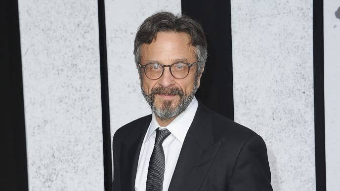 "HOLLYWOOD, CA - SEPTEMBER 28:  Marc Maron arrives for the Premiere Of Warner Bros Pictures ""Joker"" held at TCL Chinese Theatre IMAX on September 28, 2019 in Hollywood, California.  (Photo by Albert L. Ortega/Getty Images)"