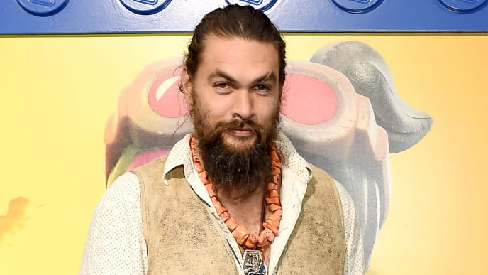 "WESTWOOD, CA - FEBRUARY 02:  Jason Momoa attends the Premiere Of Warner Bros. Pictures' ""The Lego Movie 2: The Second Part"" at Regency Village Theatre on February 2, 2019 in Westwood, California.  (Photo by Gregg DeGuire/Getty Images)"