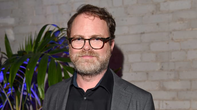 "TORONTO, ONTARIO - SEPTEMBER 06: Actor Rainn Wilson attends the RBC Hosted ""Blackbird"" Cocktail Party At RBC House Toronto Film Festival 2019 on September 06, 2019 in Toronto, Canada. (Photo by Ernesto Distefano/Getty Images for RBC)"