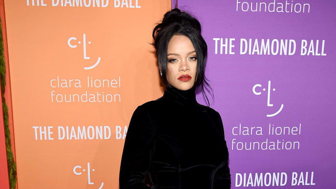 NEW YORK, NEW YORK - SEPTEMBER 12: Rihanna attends Rihanna's 5th Annual Diamond Ball Benefitting The Clara Lionel Foundation at Cipriani Wall Street on September 12, 2019 in New York City. (Photo by Dimitrios Kambouris/Getty Images for Diamond Ball)