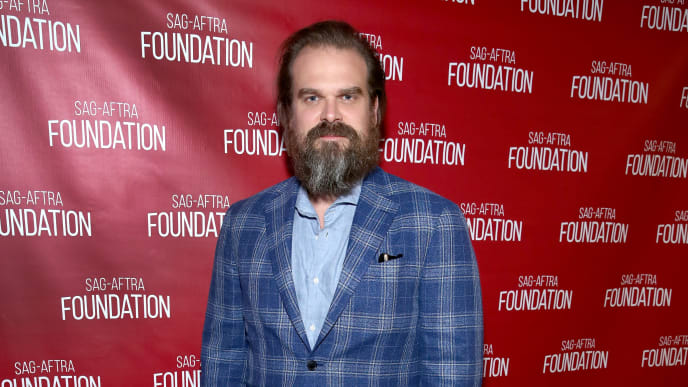 "LOS ANGELES, CALIFORNIA - JUNE 29:  David Harbour attends SAG-AFTRA Foundation's sneak preview of ""Stranger Things 3"" on June 29, 2019 in Los Angeles, California. (Photo by Randy Shropshire/Getty Images for SAG-AFTRA Foundation)"