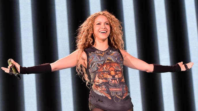 CHICAGO, IL - AUGUST 03:  Shakira Kicks Off The North American Leg Of Her El Dorado World Tour at United Center on August 3, 2018 in Chicago, Illinois.  (Photo by Kevin Mazur/Getty Images for Live Nation)
