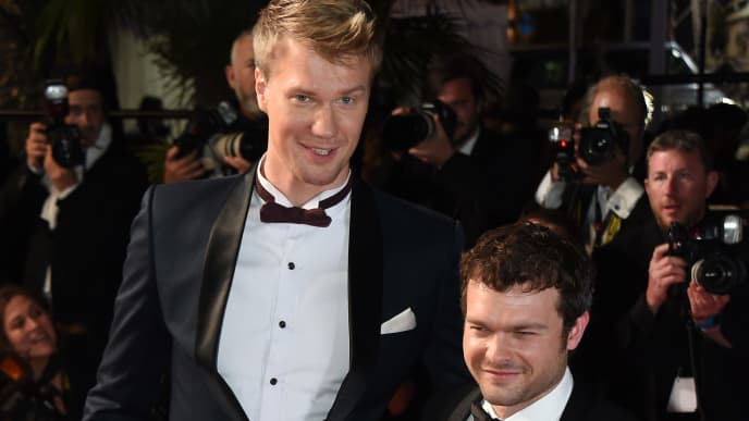 Chewbacca actor Joonas Suotamo and Han Solo actor Alden Ehrenreich from 'Solo: A Star Wars Story'