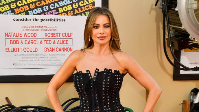 "HOLLYWOOD, CALIFORNIA - JULY 22:   Sofia Vergara attends Sony Pictures' ""Once Upon A Time...In Hollywood"" Los Angeles Premier on July 22, 2019 in Hollywood, California. (Photo by Matt Winkelmeyer/Getty Images)"