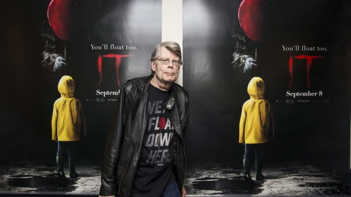 "BANGOR, ME - SEPTEMBER 06:  Stephen King attends a special screening of ""IT"" at Bangor Mall Cinemas 10 on September 6, 2017 in Bangor, Maine.  (Photo by Scott Eisen/Getty Images for Warner Bros.)"
