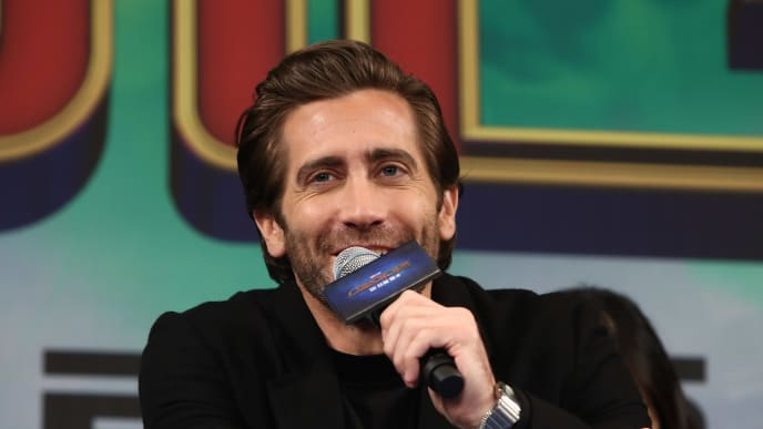 SEOUL, SOUTH KOREA - JULY 01: Actor Jake Gyllenhaal attends the press conference for 'Spider-Man: Far From Home' South Korea Premiere on July 01, 2019 in Seoul, South Korea. (Photo by Chung Sung-Jun/Getty Images)