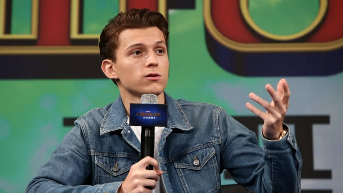 SEOUL, SOUTH KOREA - JULY 01: Actor Tom Holland attends the press conference for 'Spider-Man: Far From Home' South Korea Premiere on July 01, 2019 in Seoul, South Korea. (Photo by Chung Sung-Jun/Getty Images)