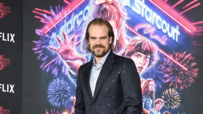 "Jim Hopper actor David Harbour at ""Stranger Things"" Season 3 New York Screening"
