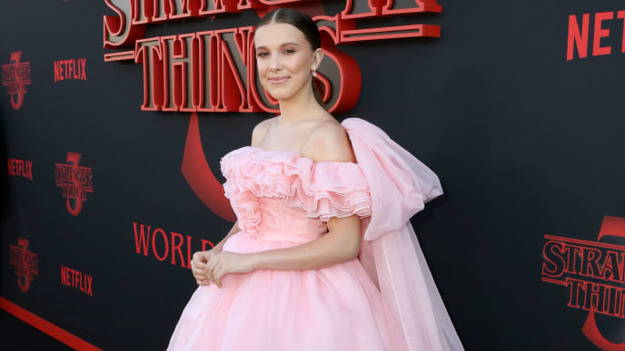 "SANTA MONICA, CALIFORNIA - JUNE 28: Millie Bobby Brown attends the ""Stranger Things"" Season 3 World Premiere on June 28, 2019 in Santa Monica, California. (Photo by Rachel Murray/Getty Images for Netflix)"