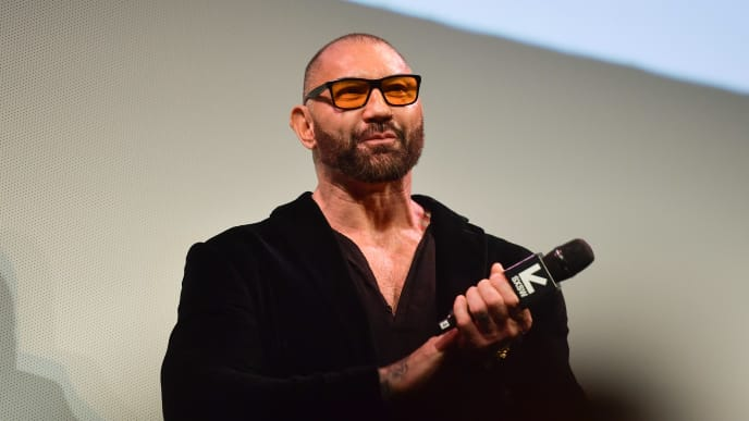 "AUSTIN, TEXAS - MARCH 13: Dave Bautista attends the ""Stuber"" Premiere 2019 SXSW Conference and Festivals at Paramount Theatre on March 13, 2019 in Austin, Texas. (Photo by Matt Winkelmeyer/Getty Images for SXSW)"