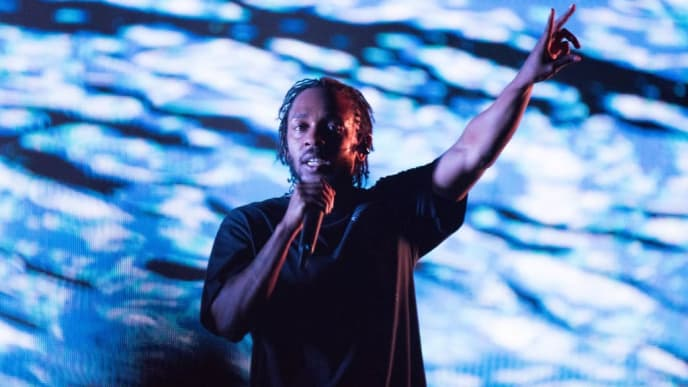 BUDAPEST, HUNGARY - AUGUST 08:  Kendrick Lamar performs on stage on day 1 of Sziget Festival 2018 on August 8, 2018 in Budapest, Hungary.  (Photo by Joseph Okpako/Getty Images)