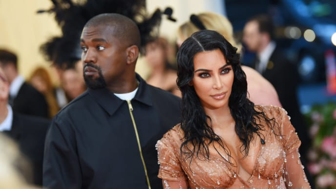 NEW YORK, NEW YORK - MAY 06: Kim Kardashian West and Kanye West attend The 2019 Met Gala Celebrating Camp: Notes on Fashion at Metropolitan Museum of Art on May 06, 2019 in New York City. (Photo by Dimitrios Kambouris/Getty Images for The Met Museum/Vogue)