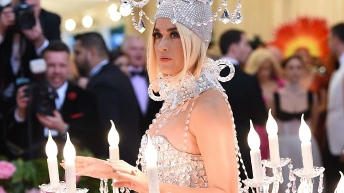 NEW YORK, NEW YORK - MAY 06: Katy Perry attends The 2019 Met Gala Celebrating Camp: Notes on Fashion at Metropolitan Museum of Art on May 06, 2019 in New York City. (Photo by Dimitrios Kambouris/Getty Images for The Met Museum/Vogue)