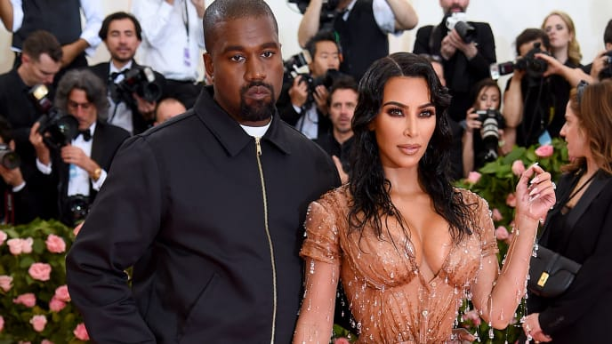NEW YORK, NEW YORK - MAY 06: Kanye West and Kim Kardashian West attend The 2019 Met Gala Celebrating Camp: Notes on Fashion at Metropolitan Museum of Art on May 06, 2019 in New York City. (Photo by Jamie McCarthy/Getty Images)