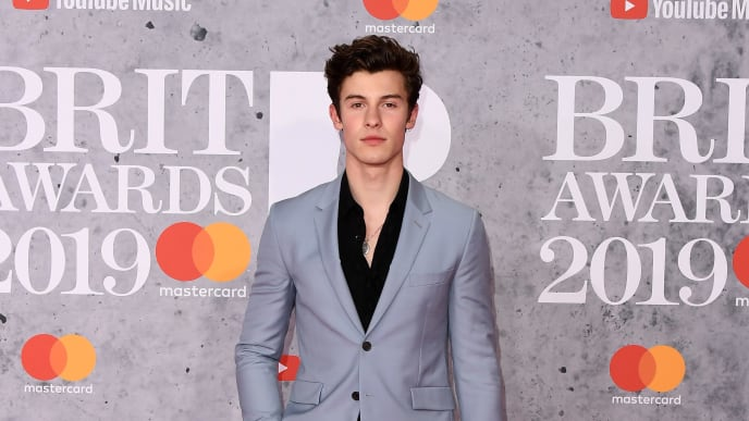 LONDON, ENGLAND - FEBRUARY 20: (EDITORIAL USE ONLY)  Shawn Mendes attends The BRIT Awards 2019 held at The O2 Arena on February 20, 2019 in London, England. (Photo by Jeff Spicer/Getty Images)