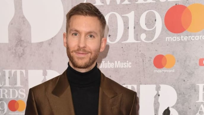 LONDON, ENGLAND - FEBRUARY 20: (EDITORIAL USE ONLY) Calvin Harris in the winners room during The BRIT Awards 2019 held at The O2 Arena on February 20, 2019 in London, England. (Photo by Stuart C. Wilson/Getty Images)