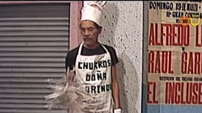 Don Ramón vendiendo churros