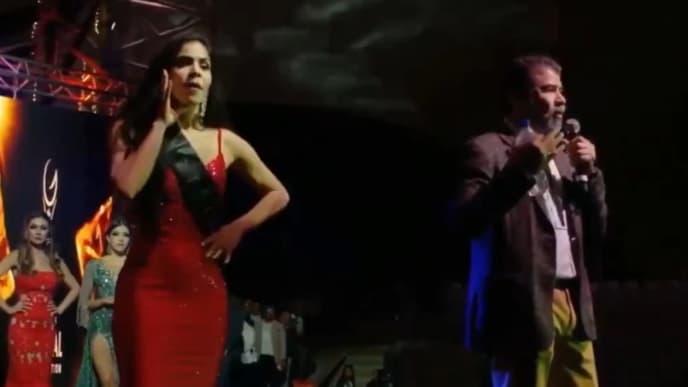 Colombiana Jesenia Orozco durante su participación en el Miss Global