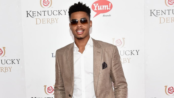 LOUISVILLE, KY - MAY 07:  Basketball Player D'Angelo Russell attends the 142nd Kentucky Derby at Churchill Downs on May 07, 2016 in Louisville, Kentucky.  (Photo by Mike Coppola/Getty Images for Churchill Downs)