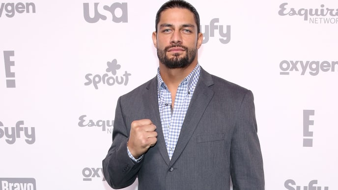 NEW YORK, NY - MAY 14:  Roman Reigns attends the 2015 NBCUniversal Cable Entertainment Upfront at The Jacob K. Javits Convention Center on May 14, 2015 in New York City.  (Photo by Robin Marchant/Getty Images)