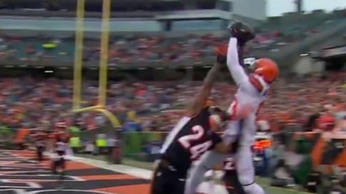 El receptor estrella de los Browns logró un touchdown y 81 yardas en el partido