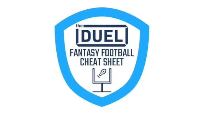 photo relating to Free Printable Fantasy Football Cheat Sheets identified as 2019 Myth Soccer Cheat Sheet