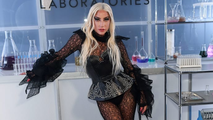 SANTA MONICA, CALIFORNIA - SEPTEMBER 16: Lady Gaga attends Lady Gaga Celebrates the Launch of Haus Laboratories at Barker Hangar on September 16, 2019 in Santa Monica, California. (Photo by Kevin Mazur/Getty Images for Haus Laboratories)