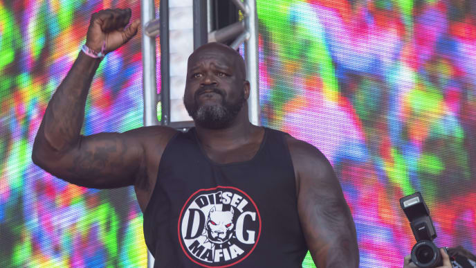 CHICAGO, IL - AUGUST 04: Shaquille O'Neal aka Diesel performs on day four of Lollapalooza at Grant Park on August 4, 2019 in Chicago, Illinois. (Photo by Michael Hickey/Getty Images)