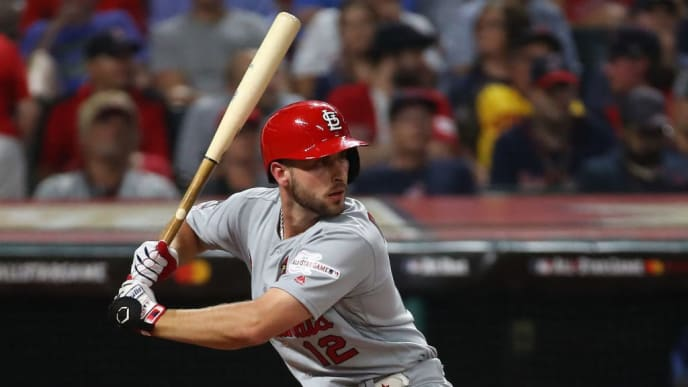 CLEVELAND, OHIO - JULY 09: Paul DeJong #12 of the St. Louis Cardinals participates in the 2019 MLB All-Star Game at Progressive Field on July 09, 2019 in Cleveland, Ohio. (Photo by Gregory Shamus/Getty Images)
