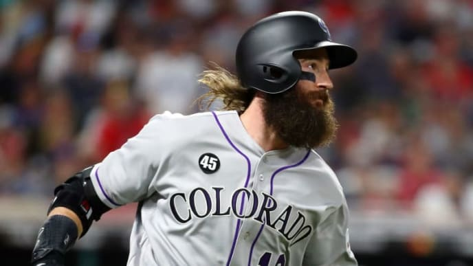 CLEVELAND, OHIO - JULY 09: Charlie Blackmon #19 of the Colorado Rockies and the National League runs the bases after hitting a solo home run during the sixth inning against the American League during the 2019 MLB All-Star Game, presented by Mastercard at Progressive Field on July 09, 2019 in Cleveland, Ohio. (Photo by Gregory Shamus/Getty Images)