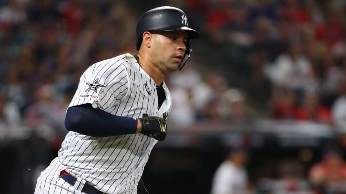 CLEVELAND, OHIO - JULY 09: Gary Sanchez #24 of the New York Yankees participates in the 2019 MLB All-Star Game at Progressive Field on July 09, 2019 in Cleveland, Ohio. (Photo by Gregory Shamus/Getty Images)
