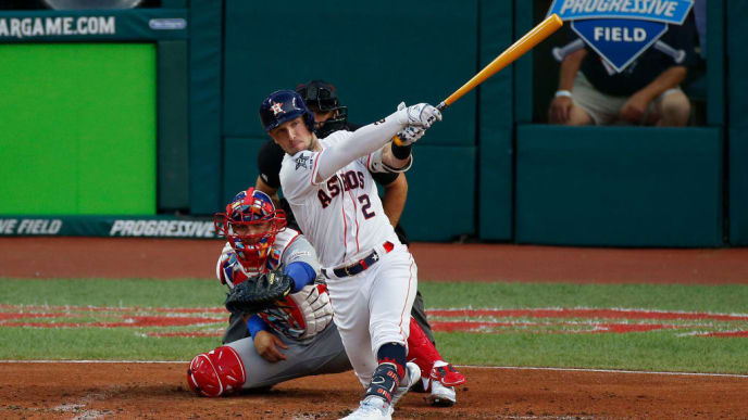 CLEVELAND, OHIO - JULY 09: Alex Bregman #2 of the Houston Astros participates in the 2019 MLB All-Star Game at Progressive Field on July 09, 2019 in Cleveland, Ohio. (Photo by Kirk Irwin/Getty Images)