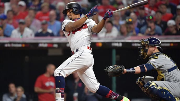 CLEVELAND, OHIO - JULY 09: Francisco Lindor #12 of the Cleveland Indians participates in the 2019 MLB All-Star Game at Progressive Field on July 09, 2019 in Cleveland, Ohio. (Photo by Jason Miller/Getty Images)