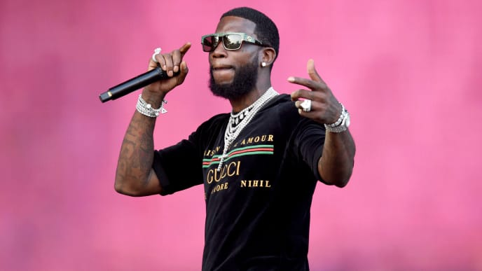 PHILADELPHIA, PENNSYLVANIA - SEPTEMBER 01: Gucci Mane performs onstage during Made In America - Day 2 at Benjamin Franklin Parkway on September 01, 2019 in Philadelphia, Pennsylvania. (Photo by Kevin Mazur/Getty Images for Roc Nation)